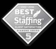 Best of Staffing Client Diamond Award Winner (2012-2016)