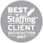 2017 Best of Staffing Client Satisfaction Award Winner