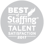 2017 Best of Staffing Talent Satisfaction Award Winner