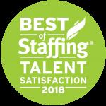 2018 Best of Staffing Talent Award Logo