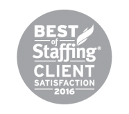 2016 Best of Staffing Client Satisfaction Award Winner