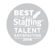 Best of Staffing Talent Satisfaction Award Winner (2013-14, 2016)