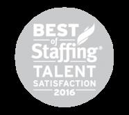 Best of Staffing Talent Satisfaction Award Winner (2013-14, 2016)