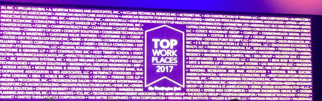 Washington Post Top Workplaces Event Full List