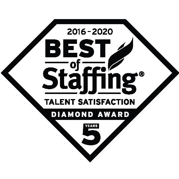 2020 Best of Staffing Talent Satisfaction Diamond Award   Best Staffing Agencies