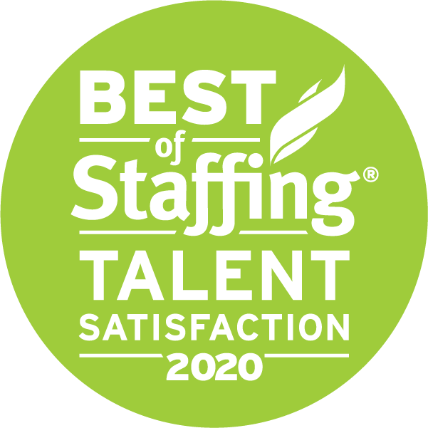 2020 Best of Staffing Talent Satisfaction Award