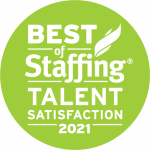 2021 Best of Staffing Talent Satisfaction Award