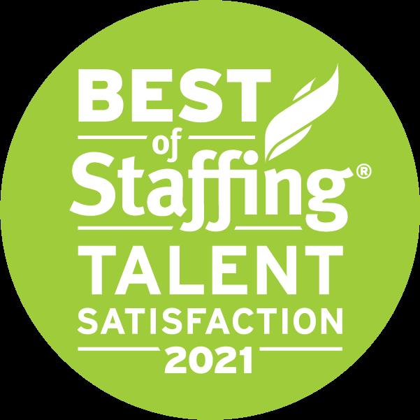2021 Best of Staffing Talent Satisfaction Award