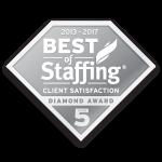Best of Staffing Client Diamond Award (2012-2017)